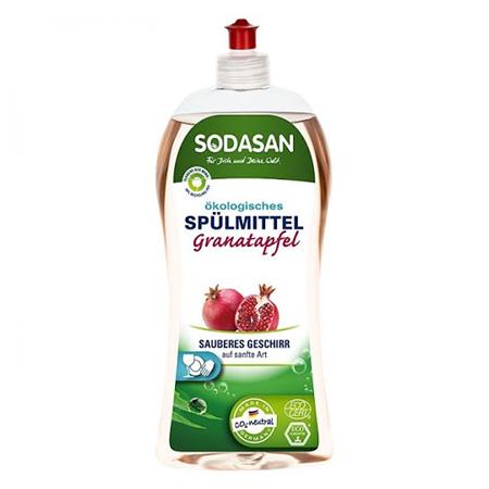 Концентрированное жидкое средство для посуды гранат 1 л sodasan (Sodasan)
