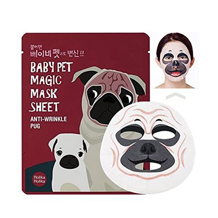 Тканевая маска мопс baby pet holika holika