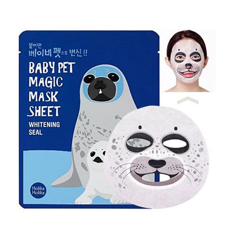 Тканевая маска тюлень baby pet holika holika