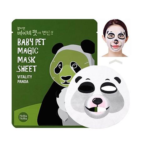 Тканевая маска панда baby pet holika holika