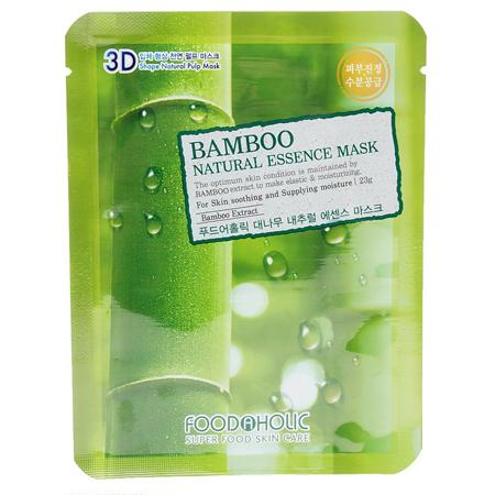 Тканевая 3d маска с натуральным экстрактом бамбука foodaholic (FoodaHolic)