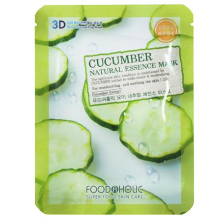 Тканевая 3d маска с натуральным экстрактом огурца foodaholic (FoodaHolic)