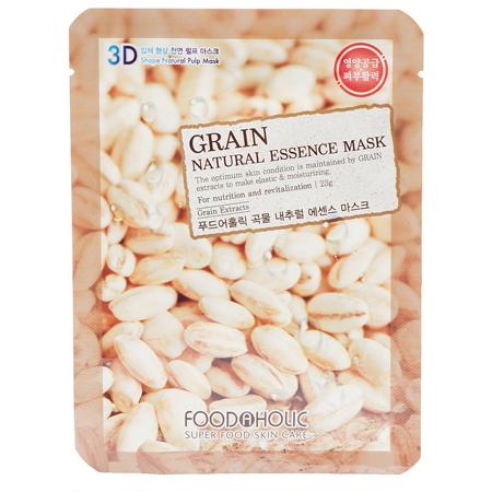 Тканевая 3d маска с натуральным экстрактом зерновых культур foodaholic (FoodaHolic)