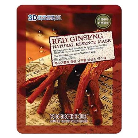 Тканевая 3d маска с натуральным экстрактом красного женьшеня для питания кожи foodaholic (FoodaHolic)