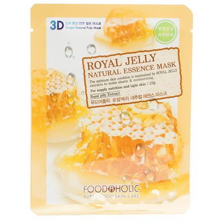 Тканевая 3d маска с натуральным экстрактом пчелиного маточного молочка foodaholic (FoodaHolic)