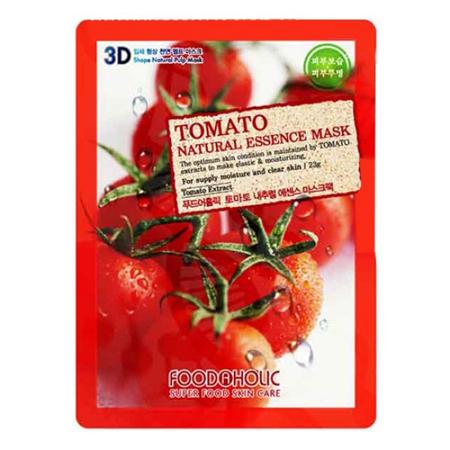 Тканевая 3d маска с томатом для увлажнения и улучшения цвета лица foodaholic (FoodaHolic)