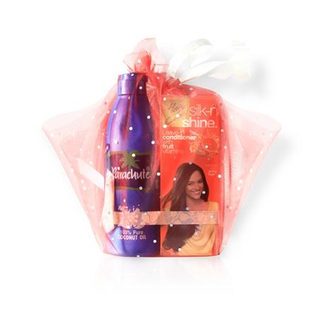 Подарочный набор (кокосовое масло 175 мл + кондиционер для волос silk-n-shine 50 мл) marico limited