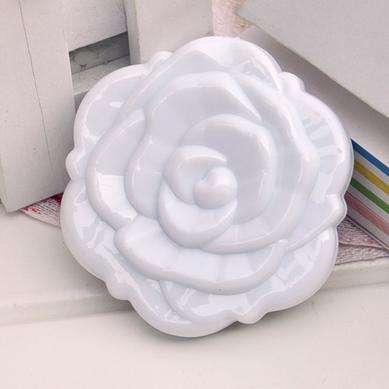 Компактное зеркало роза (белое) (Деошоп)
