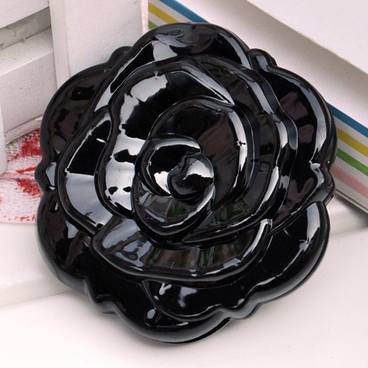 Деошоп Компактное зеркало роза (черное)