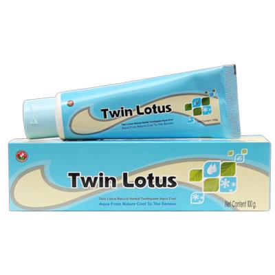 Зубная паста aqua cool морская свежесть 40 гр twin lotus (Twin Lotus)