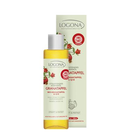 Разглаживающее масло для тела с био-гранатом и q10 logona