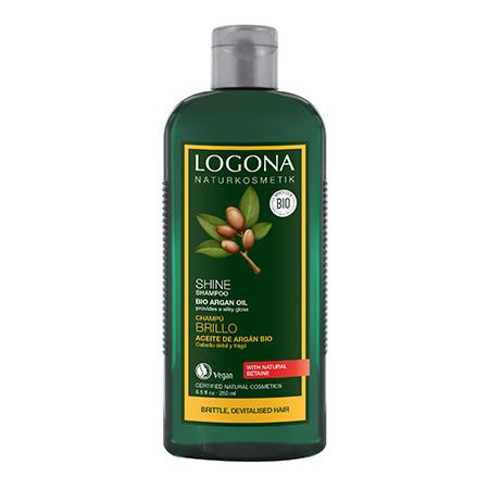 Шампунь для блеска с био-аргановым маслом logona