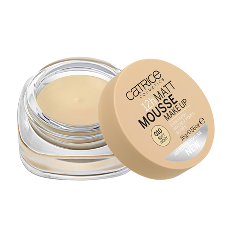 Мусс матирующий 12h matt mousse make up (тон 010) soft ivory catrice (Catrice)