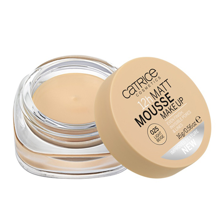 Мусс матирующий 12h matt mousse make up (тон 025) light beige catrice (Catrice)