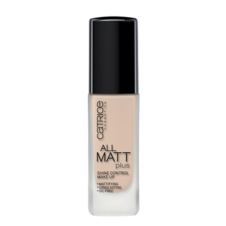 Основа тональная all matt plus shine control make up (тон 010) light beige catrice (Catrice)
