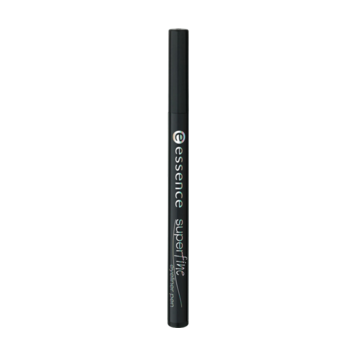 Подводка для глаз (черная) super fine eyeliner essence
