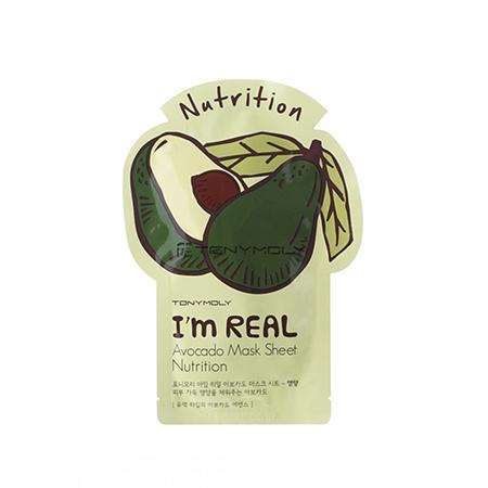 Тканевая маска для лица авокадо im real avocado mask sheet tony moly (Tony Moly)