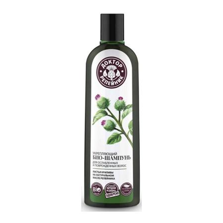Укрепляющий био-шампунь для ослабленных и поврежденных волос листья крапивы доктор репейник (Доктор Репейник)