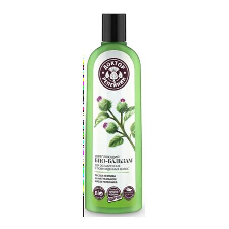 Укрепляющий био-бальзам для ослабленных и поврежденных волос листья крапивы доктор репейник (Доктор Репейник)