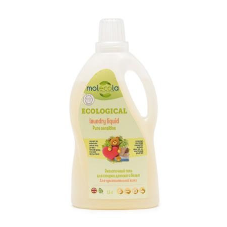 Гель для стирки детского белья pure sensitive для чувствительной кожи экологичный molecola