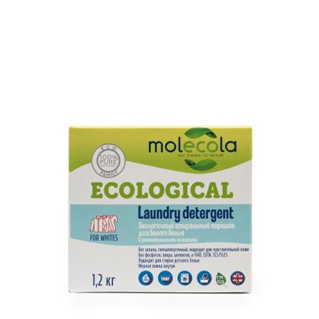 Стиральный порошок для белого белья с растительными энзимами molecola