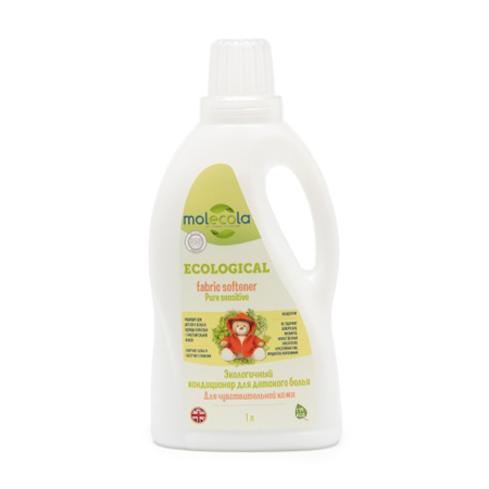 Кондиционер для детского белья pure sensitive для чувствительной кожи экологичный molecola