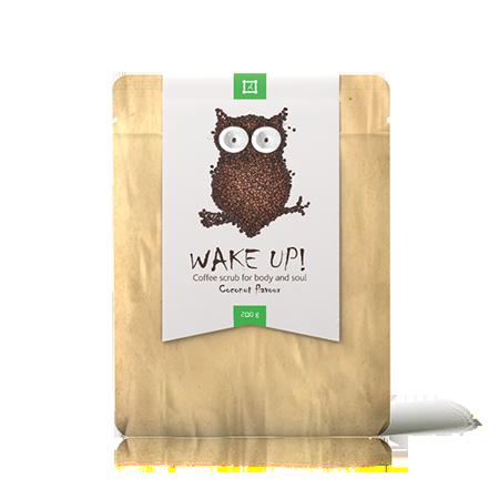 Скраб для лица и тела wake up coffee scrub coconut almea (Almea)