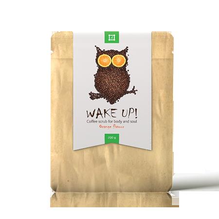 Скраб для лица и тела  wake up coffee scrub orange almea (Almea)