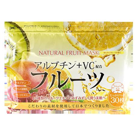 Курс натуральных масок для лица с фруктовыми экстрактами 30 шт japan gals