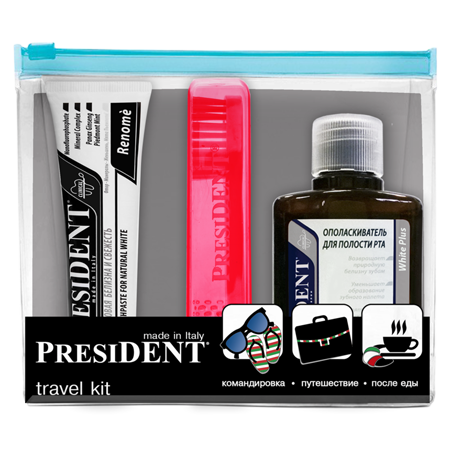 Дорожный набор renome/white president (President)