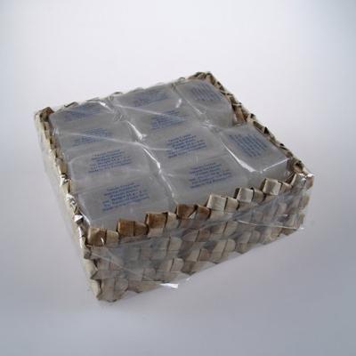 Кристалл-слиток супер-мини брусок с глицерином в коробке из пальмы пандан 20 шт tawas crystal