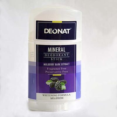 Минеральный дезодорант кристалл с экстрактами коры тутовника, семян огурца, цветов гибискуса twist-up deonat
