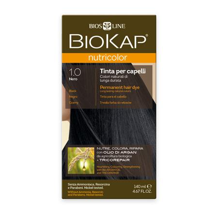 Стойкая натуральная крем-краска для волос biokap nutricolor (цвет черный) biosline (Biokap)