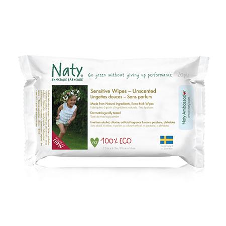 Влажные салфетки компакт 20 шт без запаха naty (Naty)