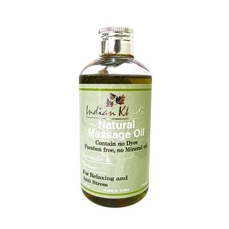 Травяное массажное масло с кориандром и ветивером indian khadi (Indian Khadi)