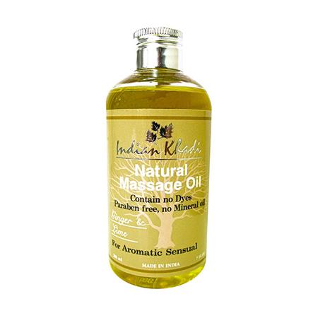 Освежающее массажное масло с лимоном и имбирем indian khadi