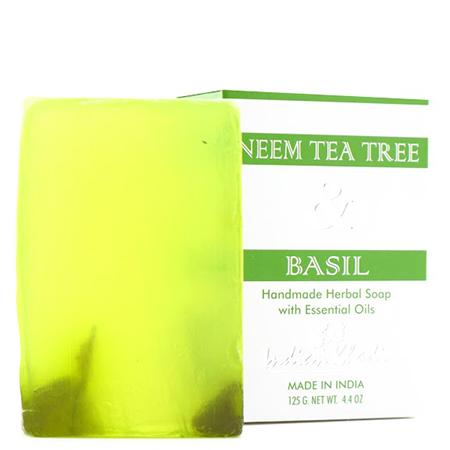 Антисептическое мыло с базиликом, чайным деревом и нимом indian khadi (Indian Khadi)