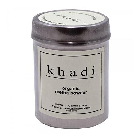 Сухой шампунь-маска для волос ритха-мыльный орех organic khadi (Indian Khadi)