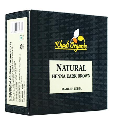 Органическая хна темно-коричневый organic indian khadi