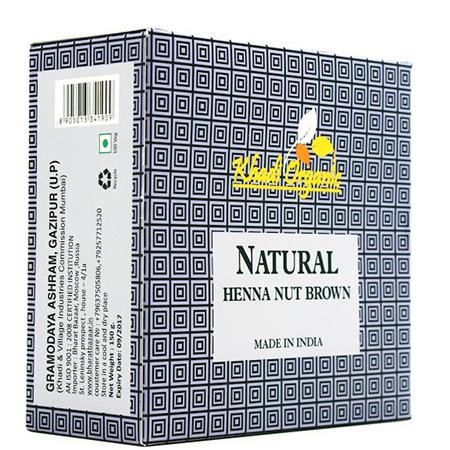 Органическая хна ореховый organic indian khadi
