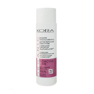 KORA (Кора) Бальзам ополаскиватель для чувствительной кожи головы, с природным комплексом alpaflor kora