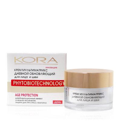 KORA (Кора) Крем мультиматрикс дневной обновляющий для лица и шеи kora