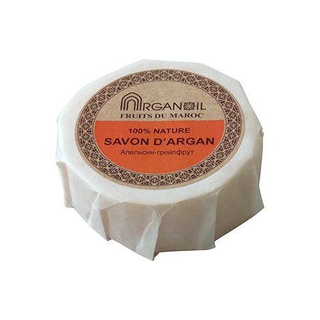 Мыло с арганой и маслом карите апельсин-грейпфрут argana