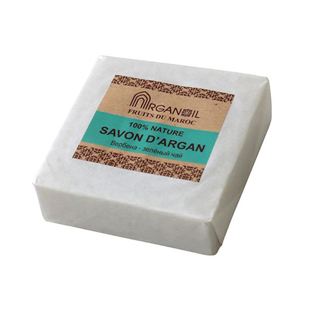 Мыло с арганой и маслом карите вербена-зеленый чай argana