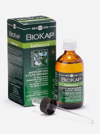 Лосьон против перхоти и жирных волос с экстрактами кактуса, агавы и ментолом biokap