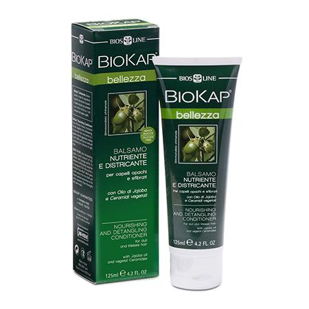 Кондиционер питательный с эффектом разглаживания спутанных волос с маслом жожоба и растительными керамидами biokap (Biokap)
