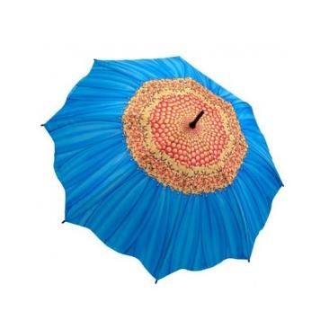 Зонт-трость голубая маргаритка galleria