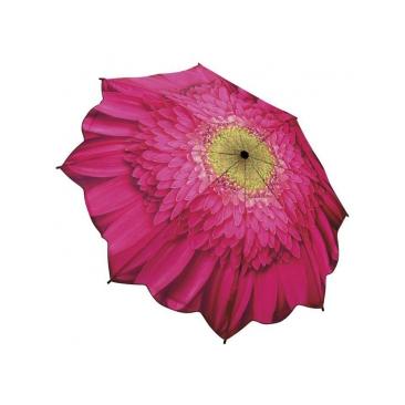 Зонт складной цветок малиновая гербера galleria (Galleria)