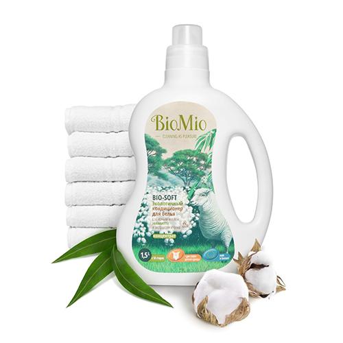 Жидкое средство для стирки деликатных тканей bio-sensitive с экстрактом хлопка без запаха bio mio