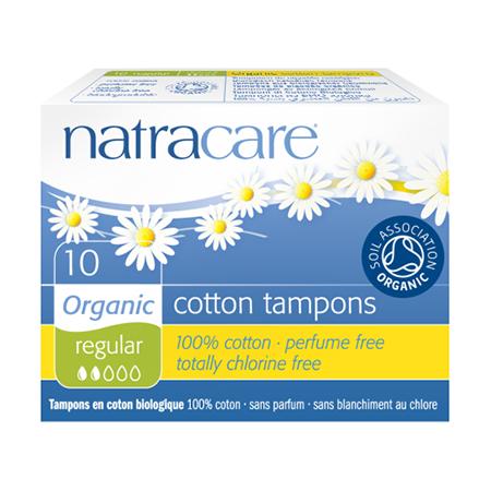 Био тампоны regular без аппликатора natracare (10 шт) (Natracare)